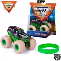 Spin Master Monster Jam: Grave Digger kisautó szilikon karkötővel 6044941