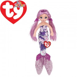 Ty Mermaids LORELEI, 27 cm - flitteres lila sellő