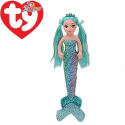 Ty Mermaids AZURE, 27 cm - fényes vízkék sellő