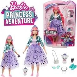 Barbie Princess Adventure: Daisy rózsaszín hajú hercegnő kiscicával GML75