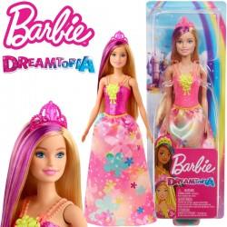 Barbie Dreamtopia: Hercegnő baba rózsaszín koronával GJK12