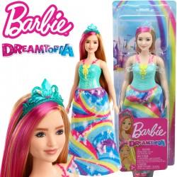 Barbie Dreamtopia: Hercegnő baba türkiz koronával GJK12