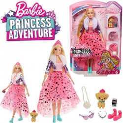 Barbie Princess Adventure: Deluxe szőke hajú hercegnő kiscicával GML75