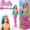 Barbie Dreamtopia: Sellő baba rózsaszín koronával GJK07