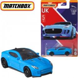 Matchbox: Egyesült Királyság kollekció - '15 Jaguar F-Type Coupe kisautó 1/64 (GWL22)