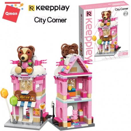 Qman - Keepley építőjáték Maci Ház C0109