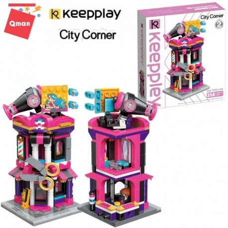 Qman - Keepley építőjáték Fodrász Ház C0111
