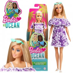 Barbie: 50. évfordulos Malibu baba virágos ruhában GRB35