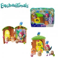 Enchantimals: Telis-Tele Kuckó papagájlak szett GTM46