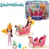 Enchantimals: Felicity Fox szánnal és kisállattal FJH11