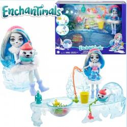 Enchantimals: Jeges horgászszett Sashay Seal és Blubber babával GJX48