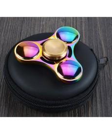 Fidget Spinner Metál Fém Stresszoldó Csapágyas Játék (Szivárvány) 1030012