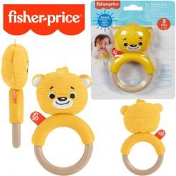 Fisher-Price: Állatpajtás csörgős rágóka- Macis GWW52