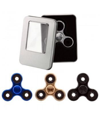 Fidget Spinner Chrome Stresszoldó Csapágyas Játék (Fekete) 1030010