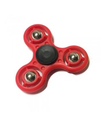 Fidget Spinner Fémgolyós Stresszoldó Csapágyas Játék (Piros) 1030009