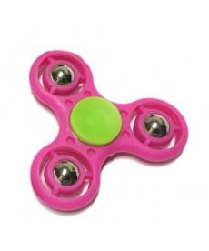 Fidget Spinner Fémgolyós Stresszoldó Csapágyas Játék (Pink) 1030009