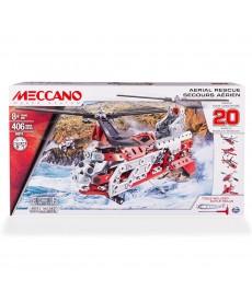 Meccano Mega Építő Szett Helikopter (Piros-Fekete) 6028598