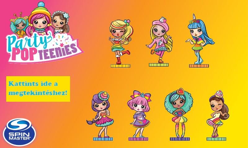 Party Pop Teenies meglepetés popper konfettivel!