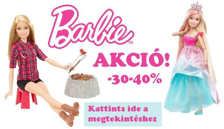 Barbi akció! Akciós Barbie! 30-40% kedvezménnyel!